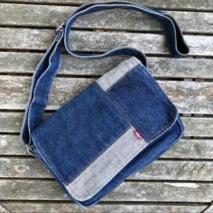 Levi's Patchwork Denim Crossbody Bag Purse